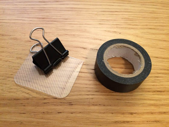 Make targeting easier with a small piece of plastic, held in place with electrical tape