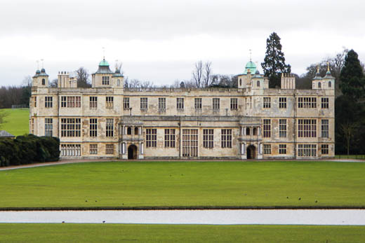 Audley End House in winter