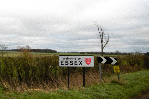 The nondescript high-point of Essex at Chishill Common