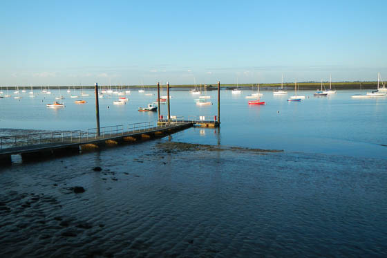 Crouch estuary in the early morning sun